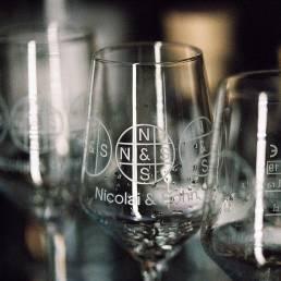Whisky Nosing Gläser mit Logo der Brennerei Nicolai & Sohn